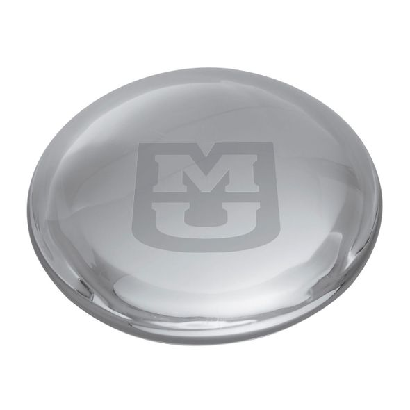 University of Missouri Glass Dome Paperweight by Simon Pearce - Image 2