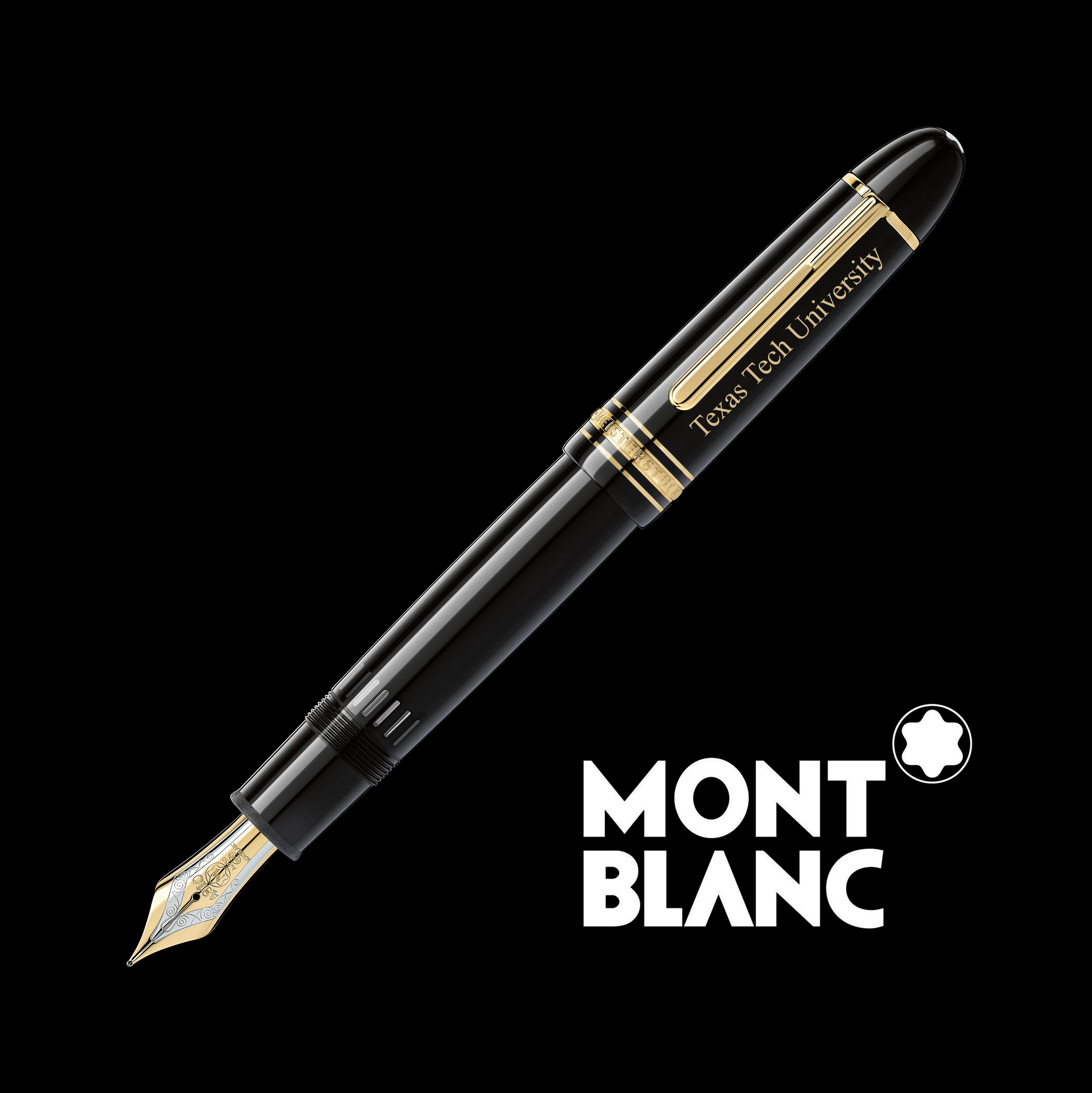 Texas Tech Montblanc Meisterstück 149 Fountain Pen in Gold
