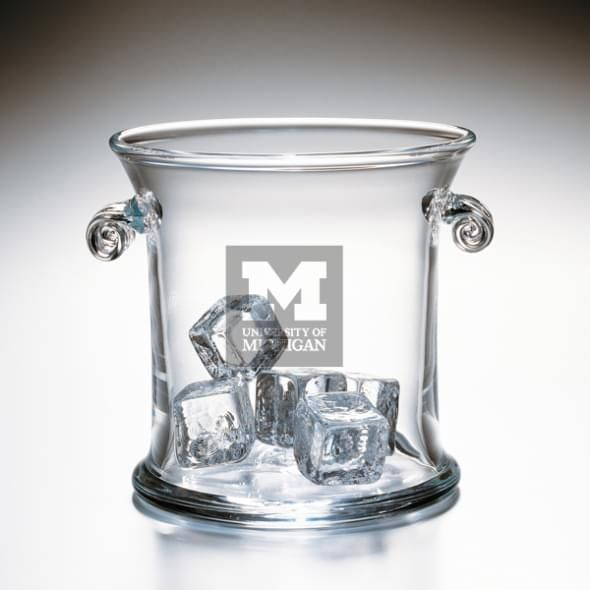Michigan Glass Ice Bucket by Simon Pearce