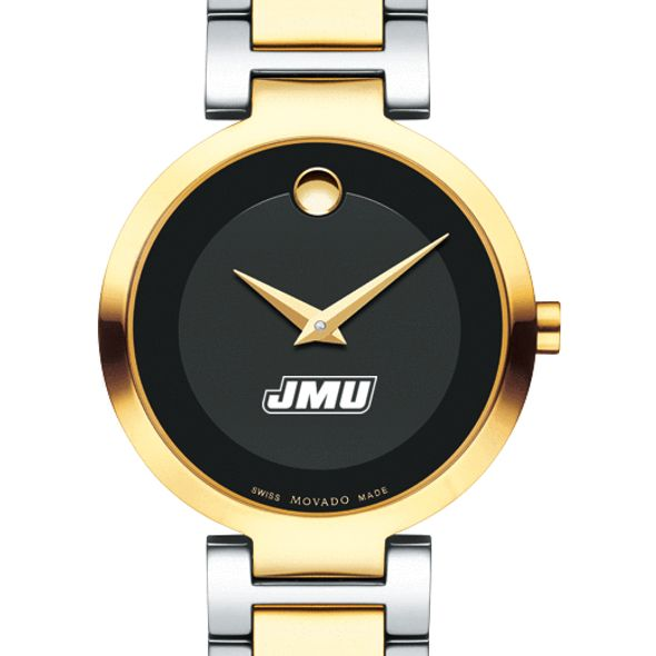 James Madison University Women's Movado Two-Tone Modern Classic Museum with Bracelet