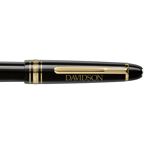 Davidson College Montblanc Meisterstück Classique Fountain Pen in Gold - Image 2