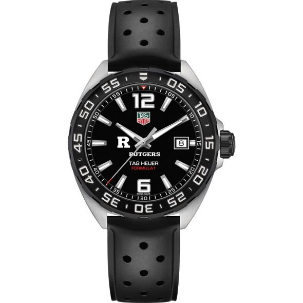 Rutgers University Men's TAG Heuer Formula 1 with Black Dial - Image 2