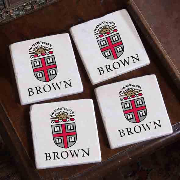 Brown Logos Marble Coasters - Image 2