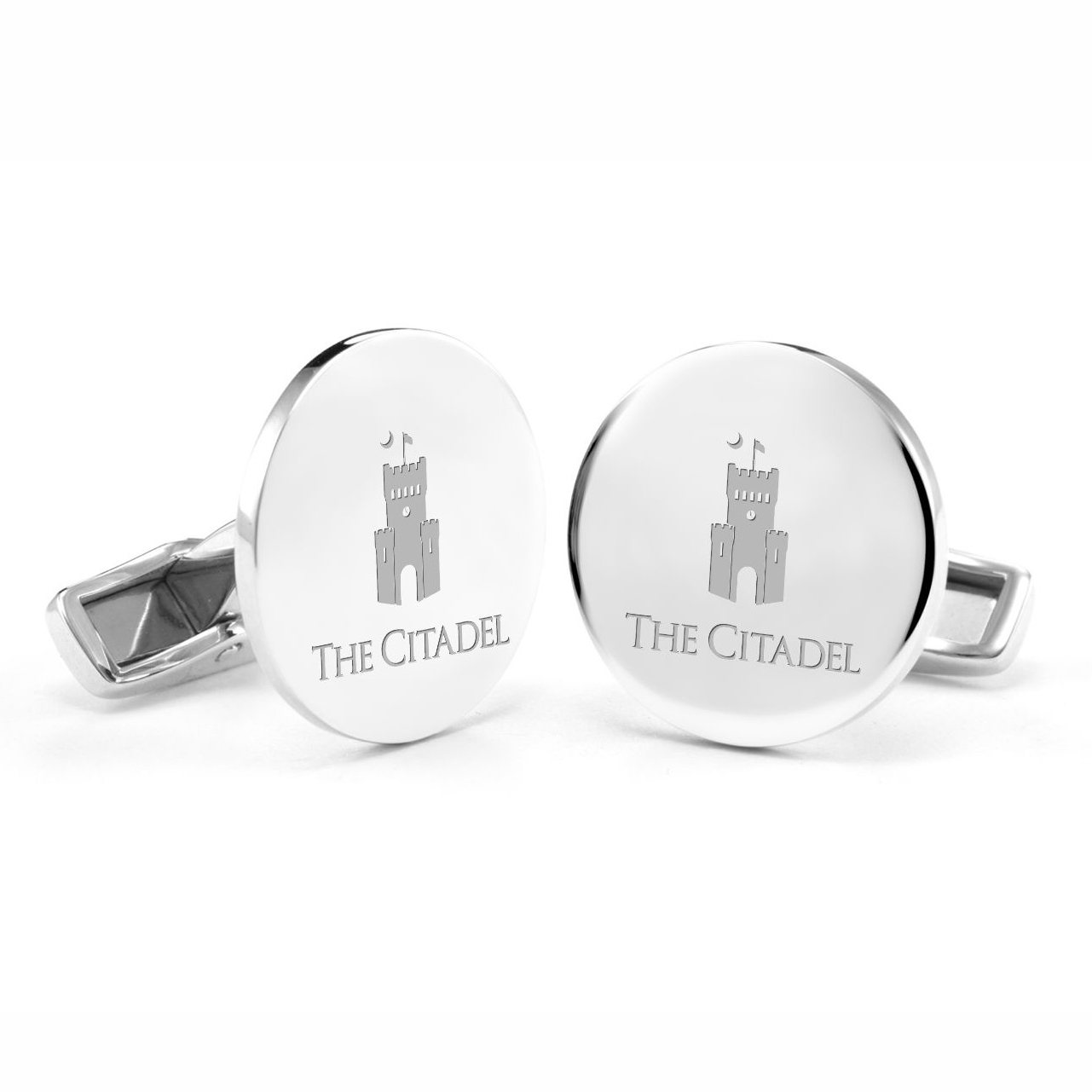Citadel Cufflinks in Sterling Silver - Image 1