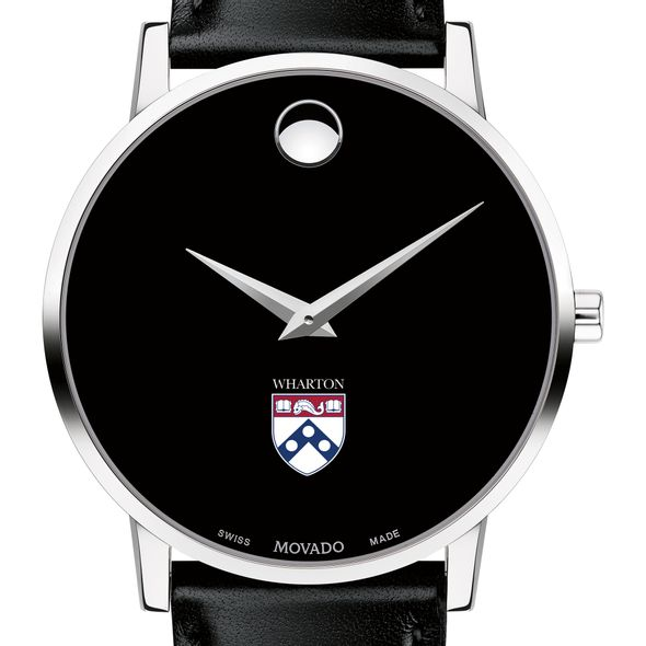 ec1a60193cd Wharton Men s Movado Museum with Leather Strap at M.LaHart   Co.