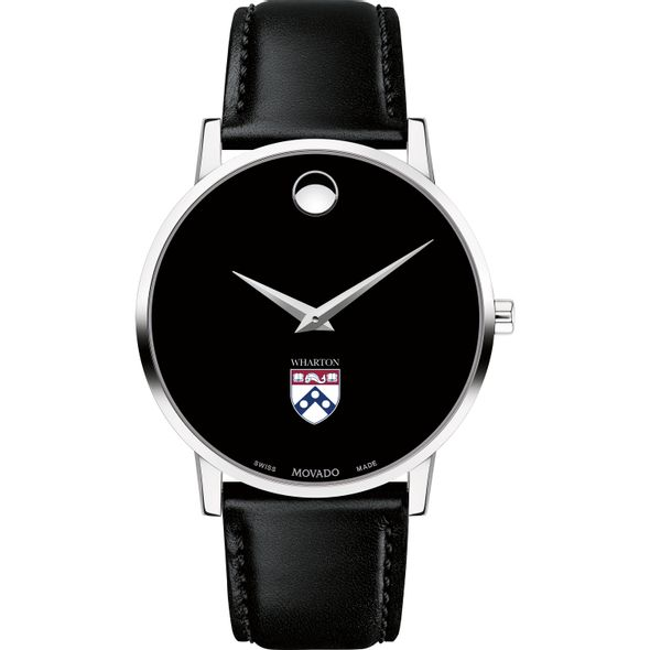 Wharton Men's Movado Museum with Leather Strap - Image 2