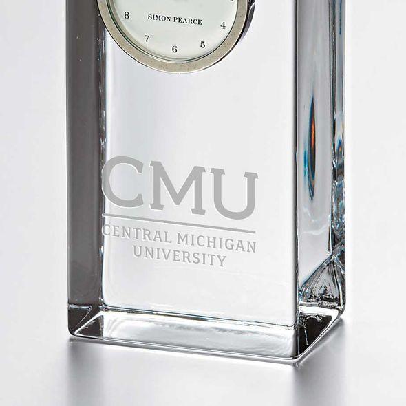 Central Michigan Tall Glass Desk Clock by Simon Pearce - Image 2