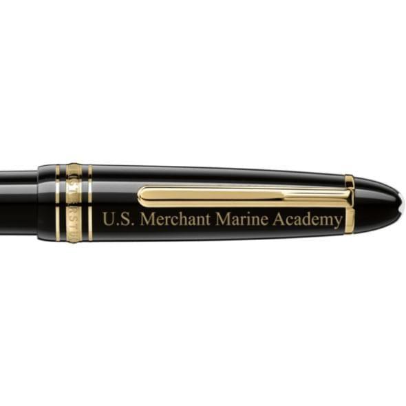 US Merchant Marine Academy Montblanc Meisterstück LeGrand Ballpoint Pen in Gold - Image 2