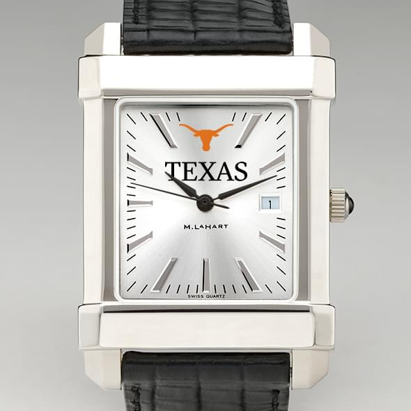 Texas Men's Collegiate Watch with Leather Strap