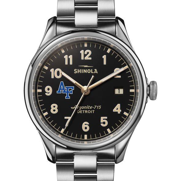 USAFA Shinola Watch, The Vinton 38mm Black Dial - Image 1