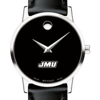 James Madison University Women's Movado Museum with Leather Strap