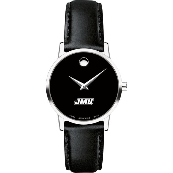 James Madison University Women's Movado Museum with Leather Strap - Image 2