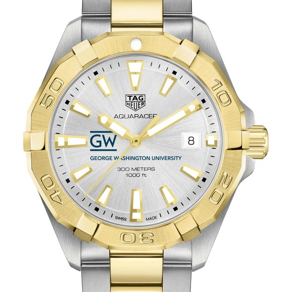 George Washington University Men's TAG Heuer Two-Tone Aquaracer - Image 1