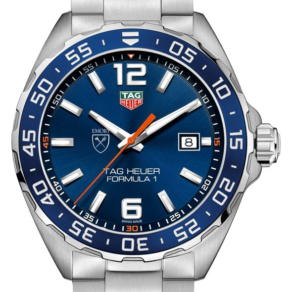 Emory University Men's TAG Heuer Formula 1 with Blue Dial & Bezel