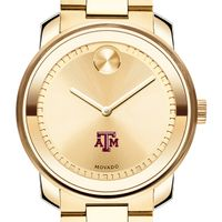 Texas A&M University Men's Movado Gold Bold
