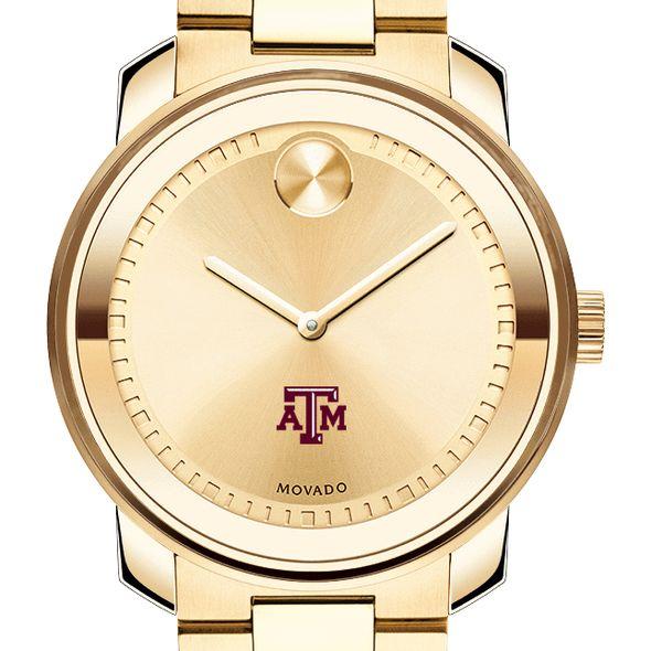 Texas A&M University Men's Movado Gold Bold