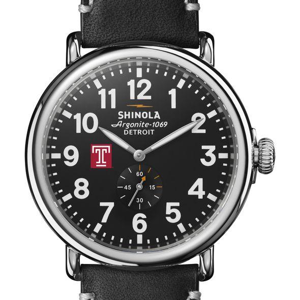 Temple Shinola Watch, The Runwell 47mm Black Dial