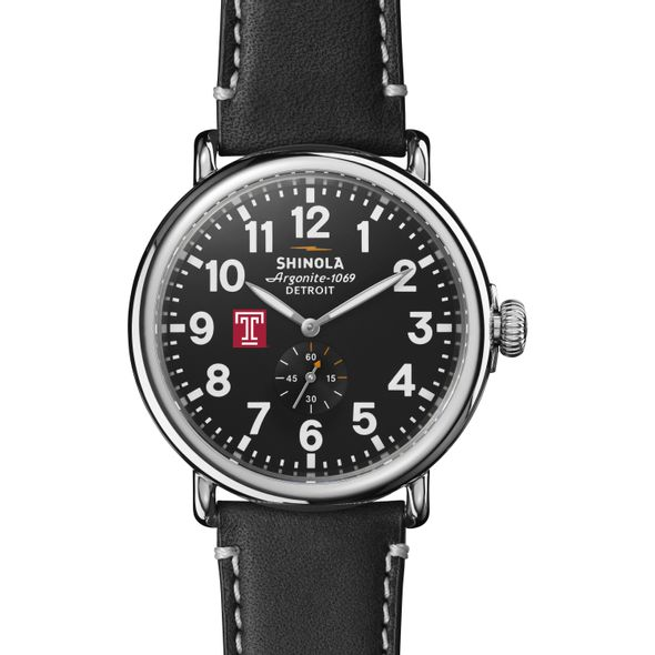 Temple Shinola Watch, The Runwell 47mm Black Dial - Image 2
