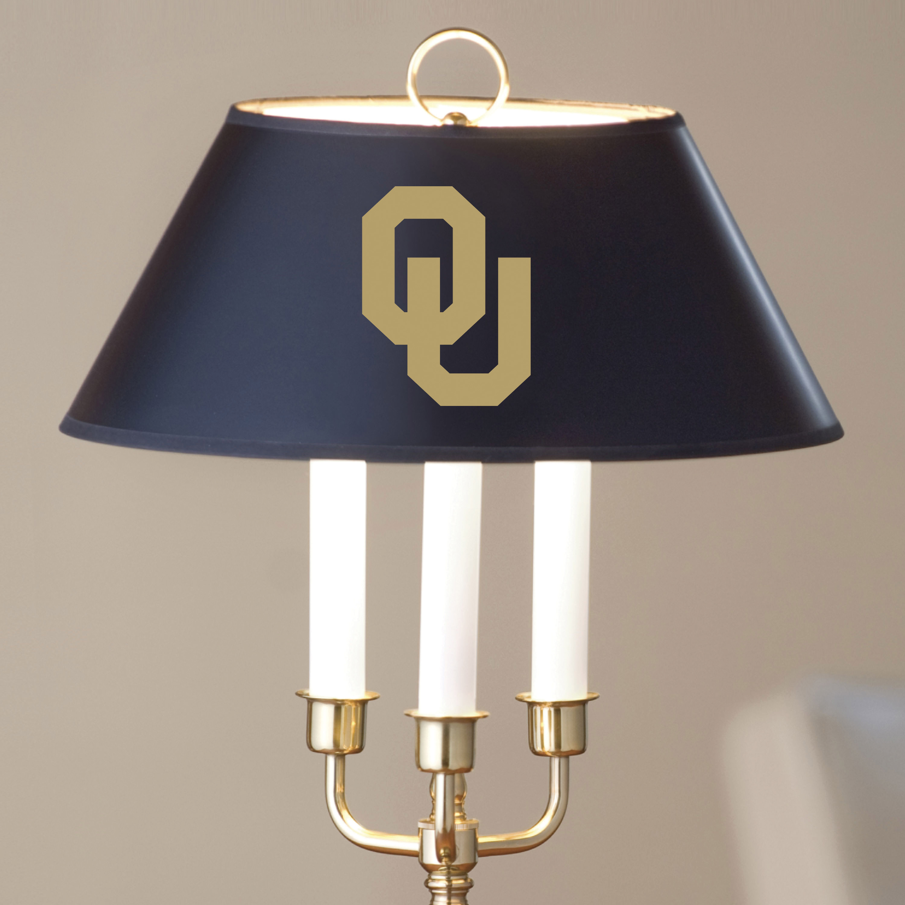 University of Oklahoma Lamp in Brass & Marble - Image 2