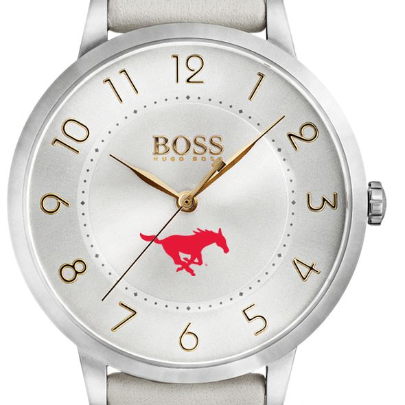 Southern Methodist University Women's BOSS White Leather from M.LaHart
