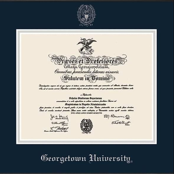 Georgetown University Diploma Frame, the Fidelitas - Image 2