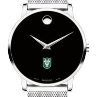 Tulane University Men's Movado Museum with Mesh Bracelet
