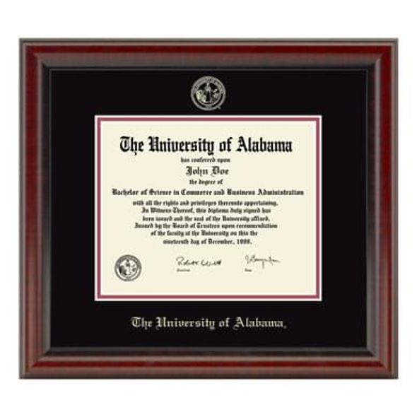 University of Alabama Diploma Frame, the Fidelitas - Image 1