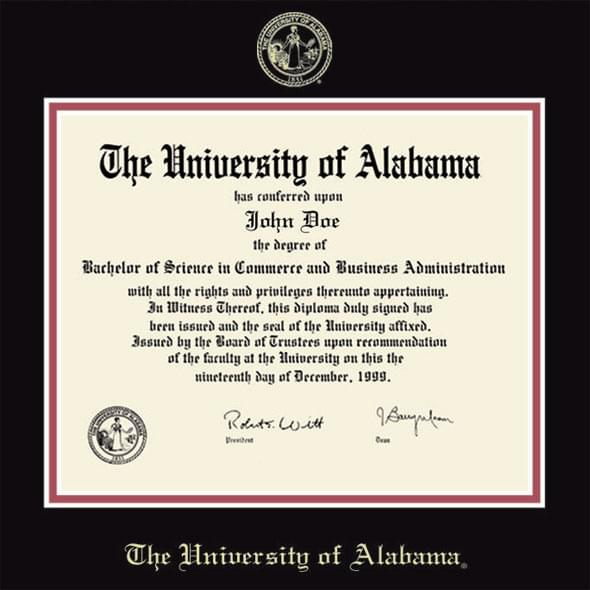 University of Alabama Diploma Frame, the Fidelitas - Image 2