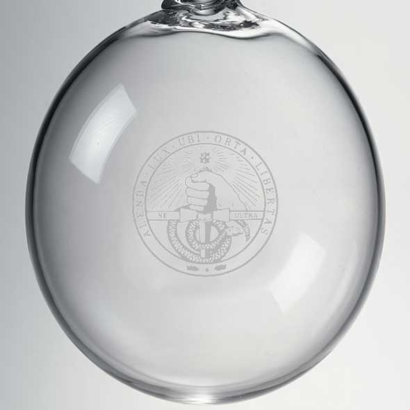 Davidson College Glass Ornament by Simon Pearce - Image 2
