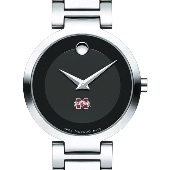 Mississippi State Women's Movado Museum with Steel Bracelet