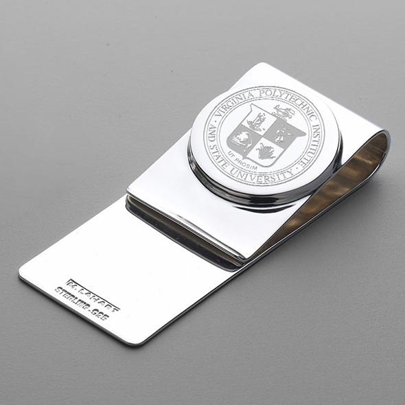 Virginia Tech Sterling Silver Money Clip