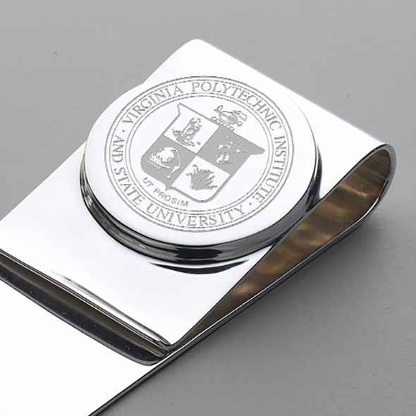 Virginia Tech Sterling Silver Money Clip - Image 2