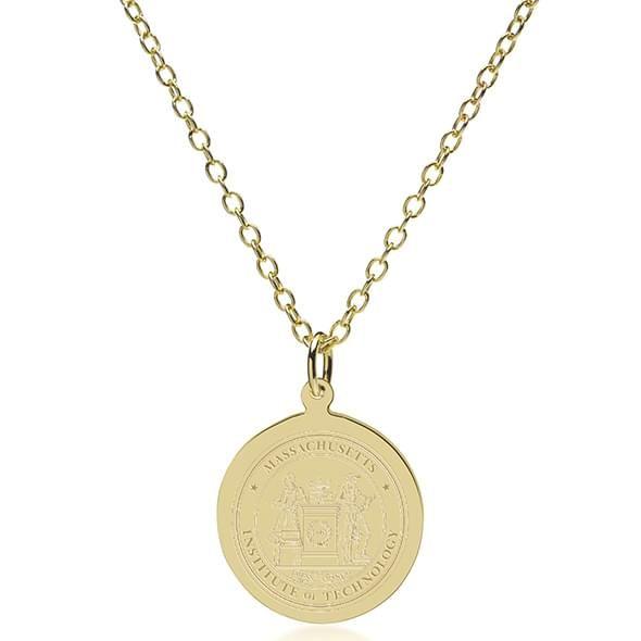MIT 14K Gold Pendant & Chain - Image 2