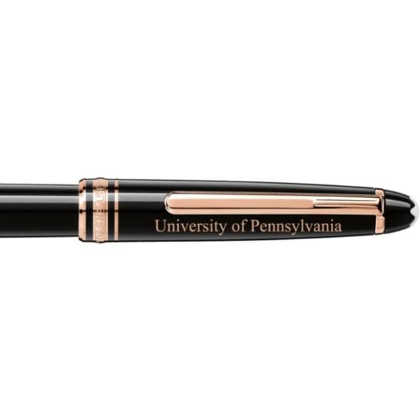 University of Pennsylvania Montblanc Meisterstück Classique Rollerball Pen in Red Gold - Image 2