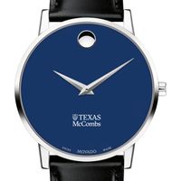 McCombs School of Business Men's Movado Museum with Blue Dial & Leather Strap