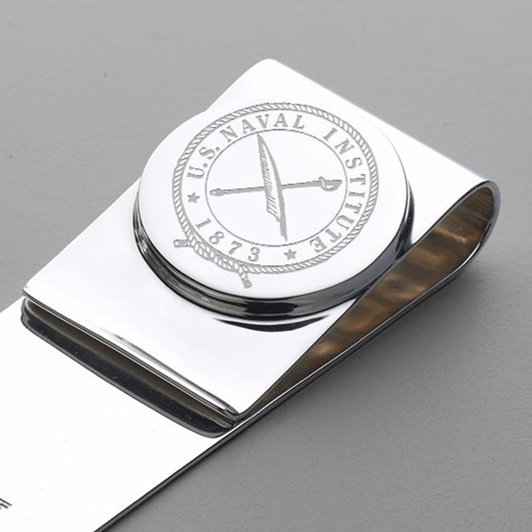 USNI Sterling Silver Money Clip - Image 2