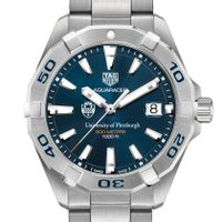 Pitt Men's TAG Heuer Steel Aquaracer with Blue Dial