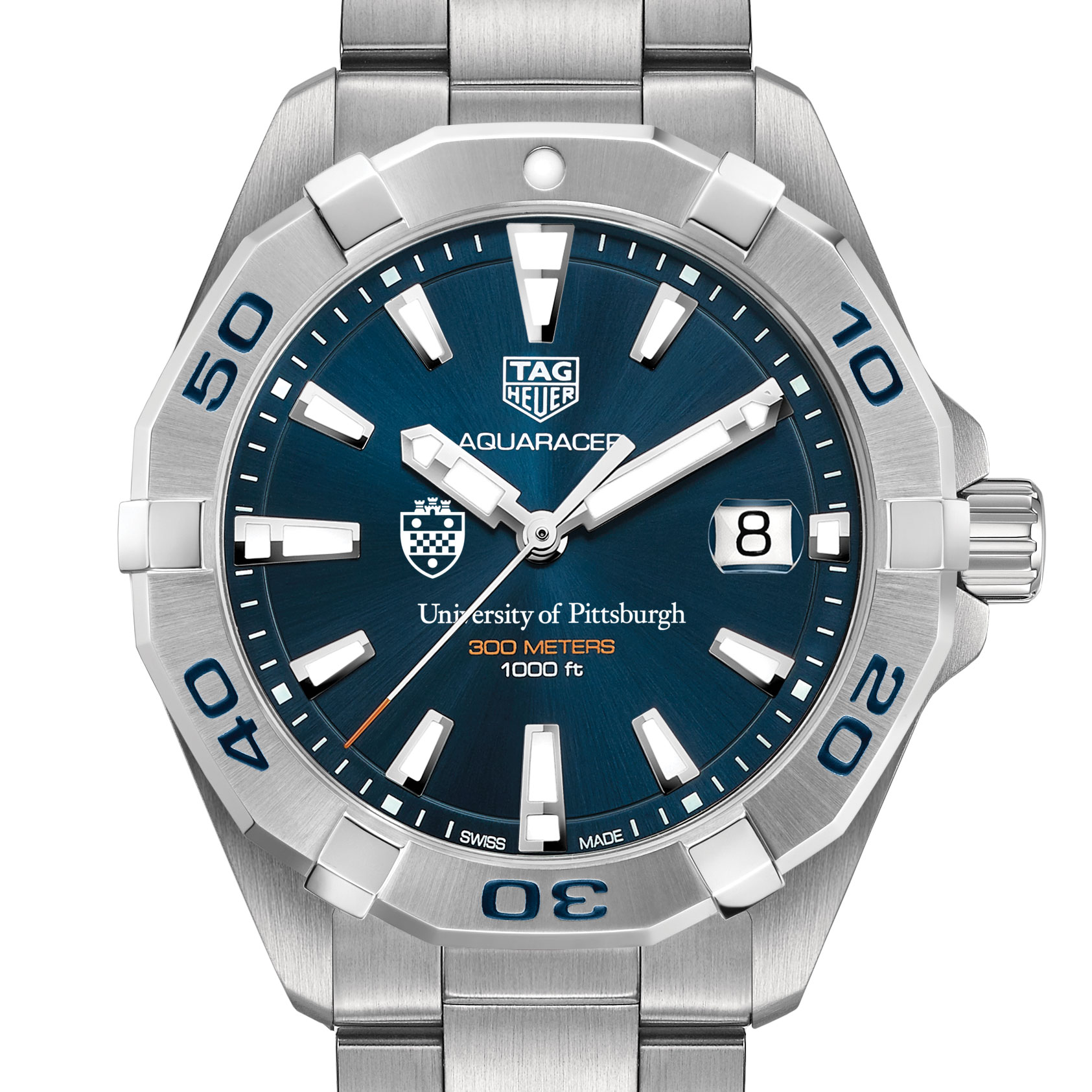Pittsburgh Men's TAG Heuer Steel Aquaracer with Blue Dial