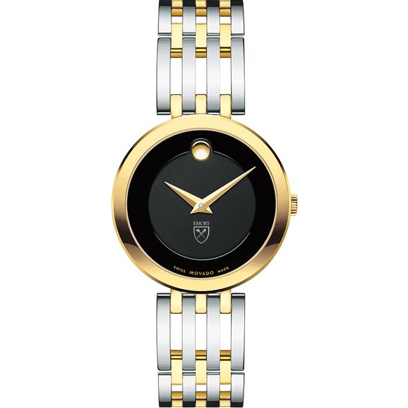 Emory University Women's Movado Esparanza Two-Tone Museum with Bracelet - Image 2