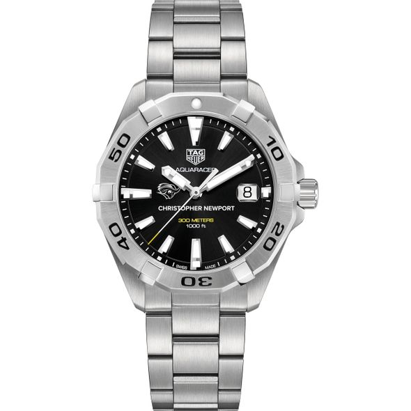 Christopher Newport University Men's TAG Heuer Steel Aquaracer with Black Dial - Image 2