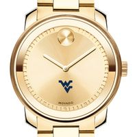 West Virginia University Men's Movado Gold Bold