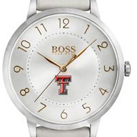 Texas Tech Women's BOSS White Leather from M.LaHart