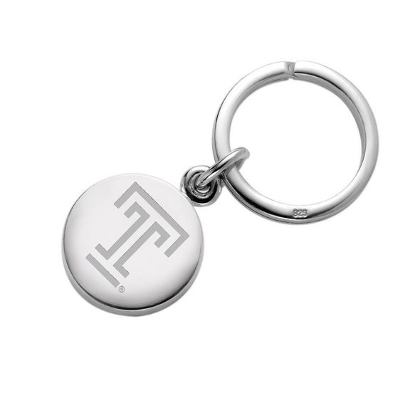 Temple Sterling Silver Insignia Key Ring