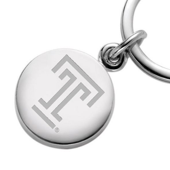 Temple Sterling Silver Insignia Key Ring - Image 2