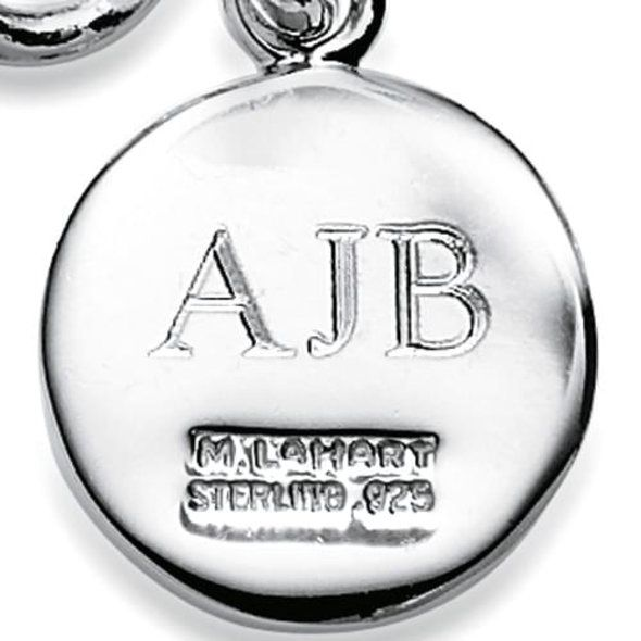Temple Sterling Silver Insignia Key Ring - Image 3
