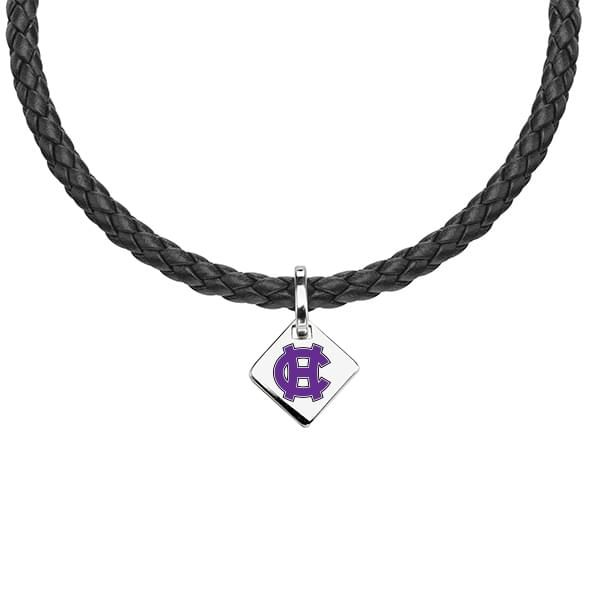 Holy Cross Leather Necklace with Sterling Silver Tag