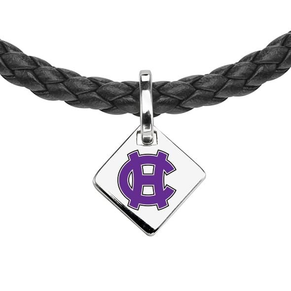 Holy Cross Leather Necklace with Sterling Silver Tag - Image 2