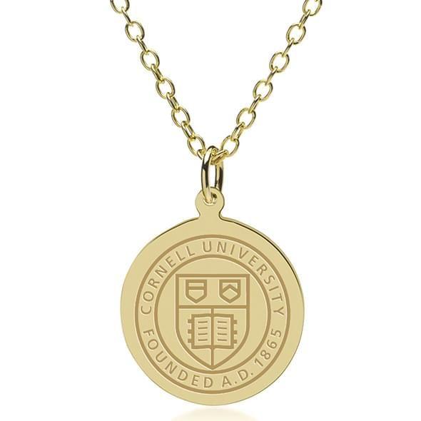 Cornell 14K Gold Pendant & Chain
