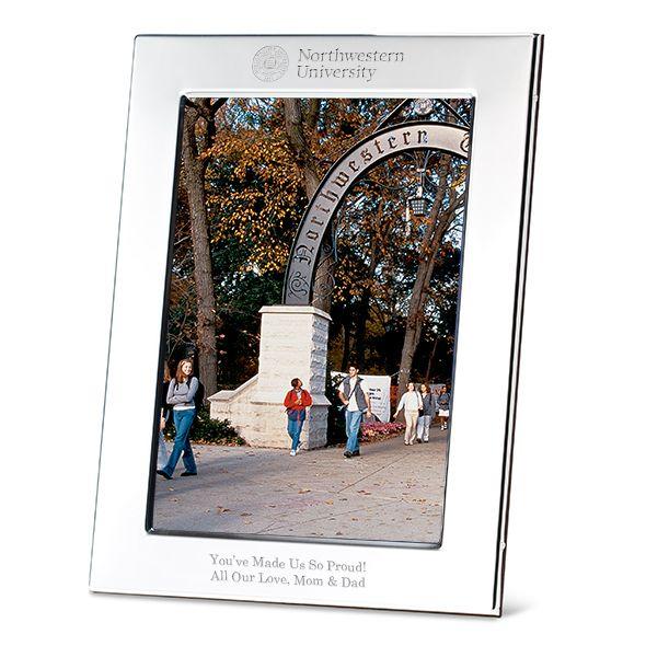 Northwestern Polished Pewter 5x7 Picture Frame