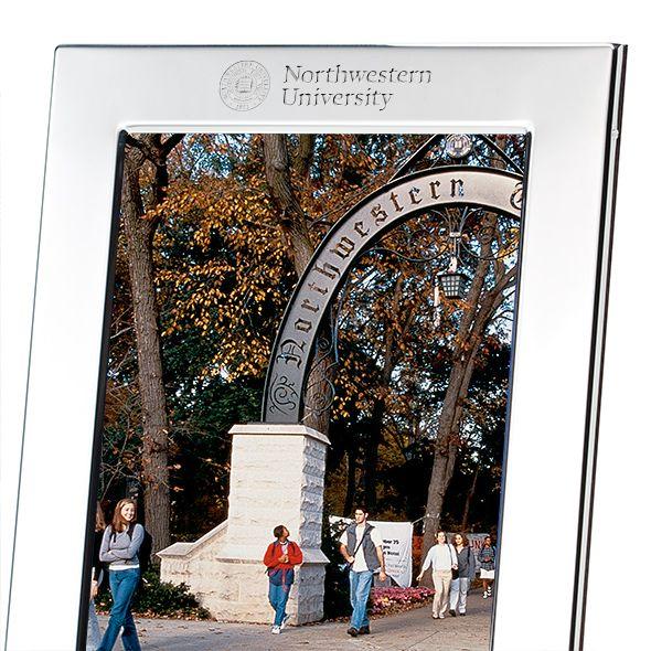 Northwestern Polished Pewter 5x7 Picture Frame - Image 2
